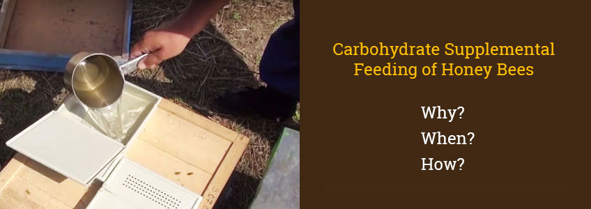 Carbohydrate Supplemental Feeding of Honey Bees: why, when and how to feed?